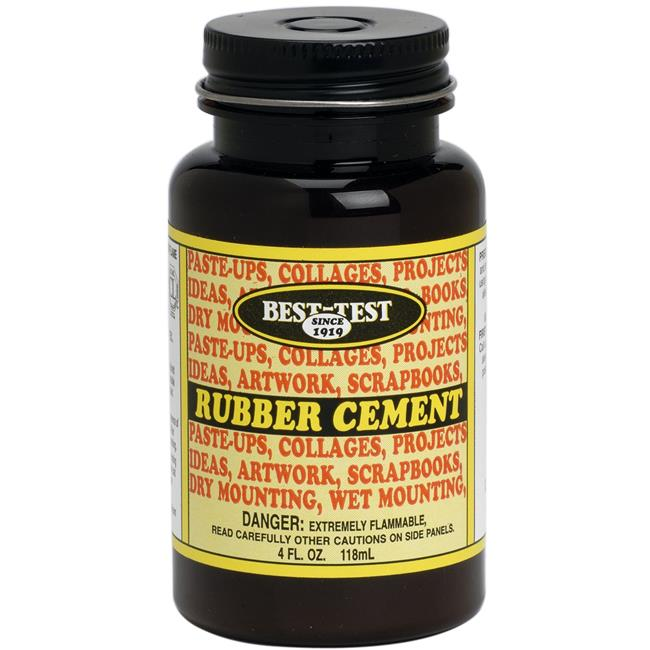 Best Test 148 4 oz Rubber Cement, Brush-In Cap - image 1 de 1