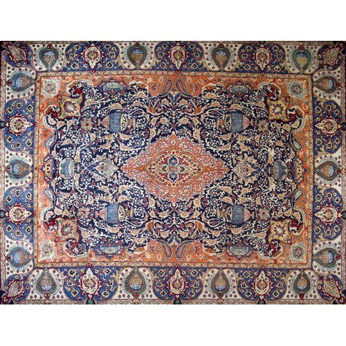 Isabelline One-of-a-Kind Pitchford Hand-Knotted 9'8'' x 12'6'' Orange/Purple Area Rug