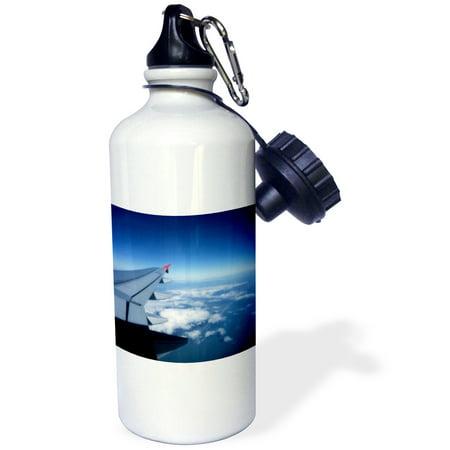 3dRose Spirit airplane landing in Orlando Florida, Sports Water Bottle, 21oz