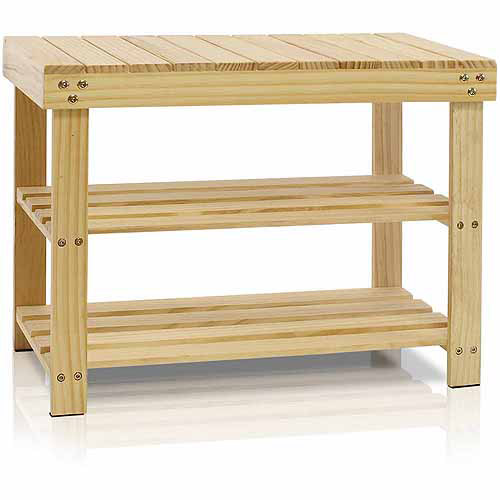 Furinno FNCJ-33019 Pine Solid Wood Shoe Rack