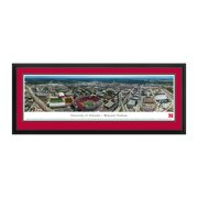 "Nebraska Cornhuskers 18"" x 44"" Aerial Deluxe Framed Panoramic Wall Art"