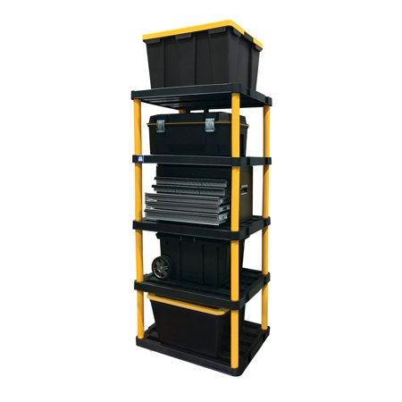 Gracious Living Extra Large Premium Duty Ventilated Plastic Shelving, Black