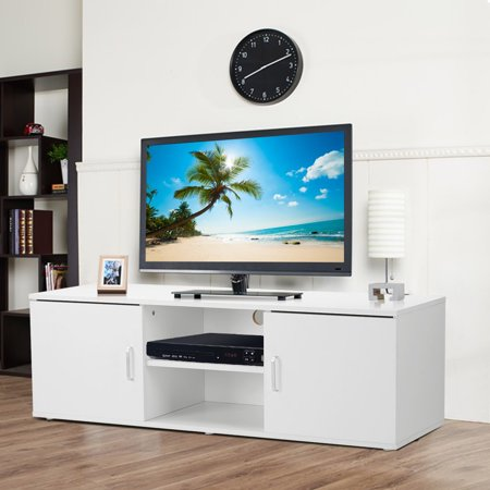 LANGRIA Modern TV Stand | Console Table | Entertainment Center | Minimalist Design | Perfect for Apartment, Living Room, or Den