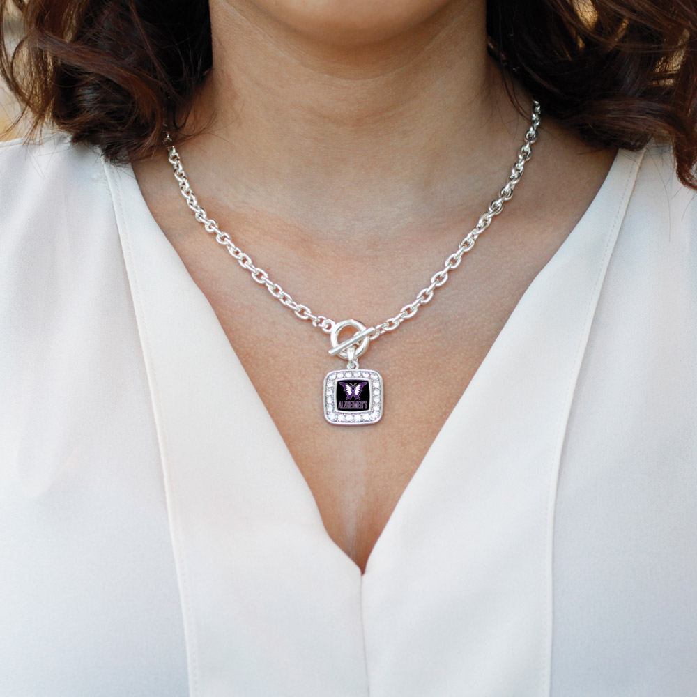 eb8b50aa1c1 Inspired Silver - Alzheimers Awareness Classic Charm Toggle Necklace -  Walmart.com