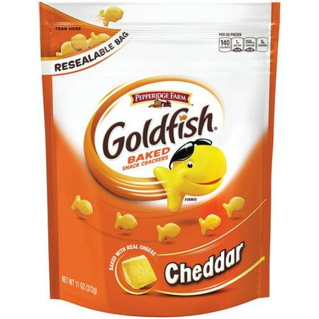(2 Pack) Pepperidge Farm Goldfish Cheddar Crackers, 11 oz. Re-sealable Bag - Customize Goldfish Bag
