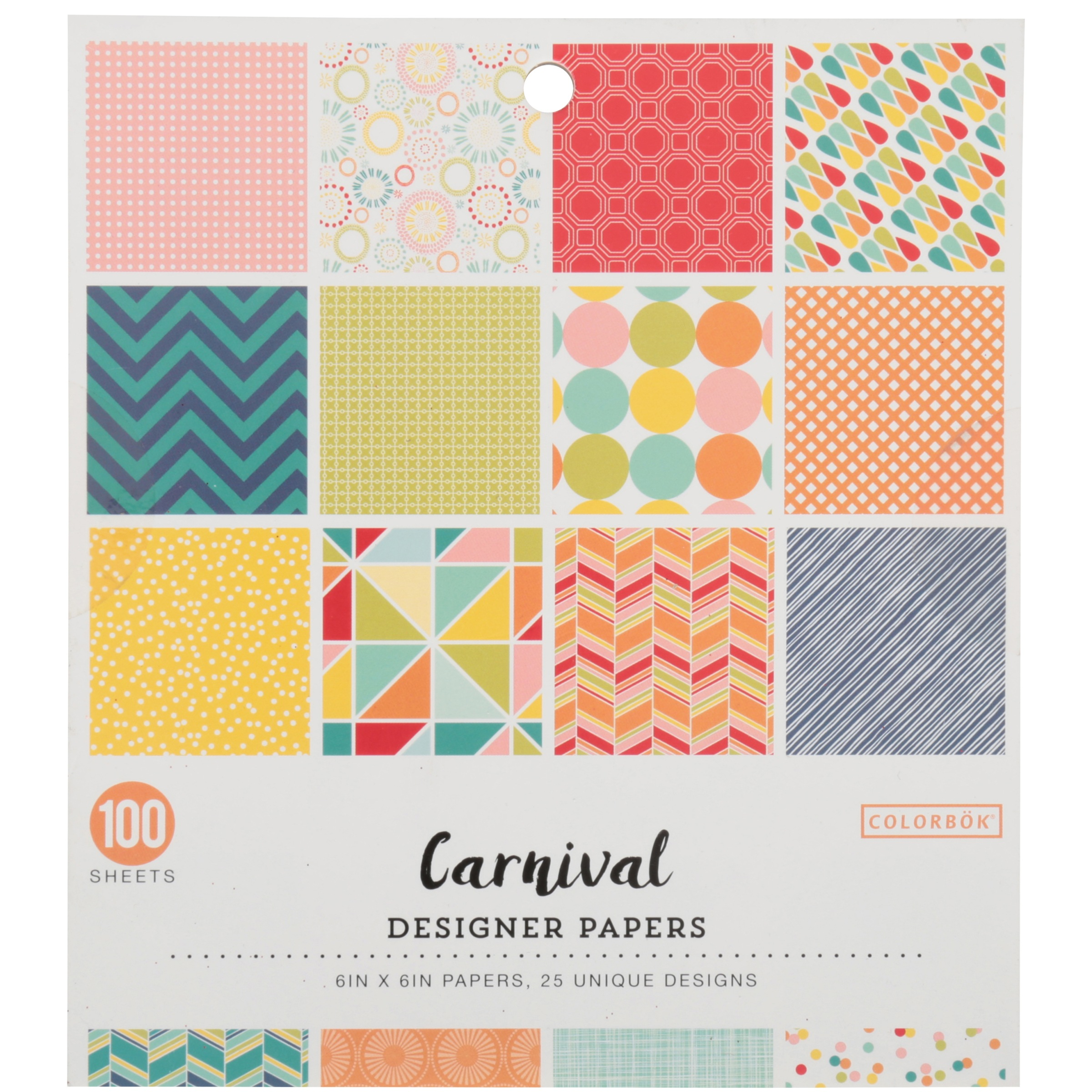 Colorbök® Carnival Designer Papers 100 ct Pack