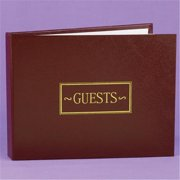 Hortense B. Hewitt 38934P Burgundy Small Guest Book
