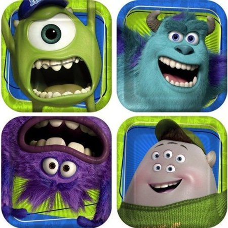 - Monster Inc Monster University Party Supplies 8 Small Dessert Plates Birthday by By PIXAR