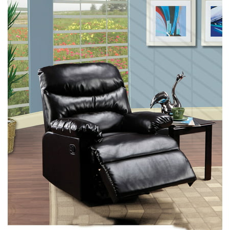 Acme Furniture Arcadia Recliner in Espresso Bonded Leather (Collection Espresso Leather)