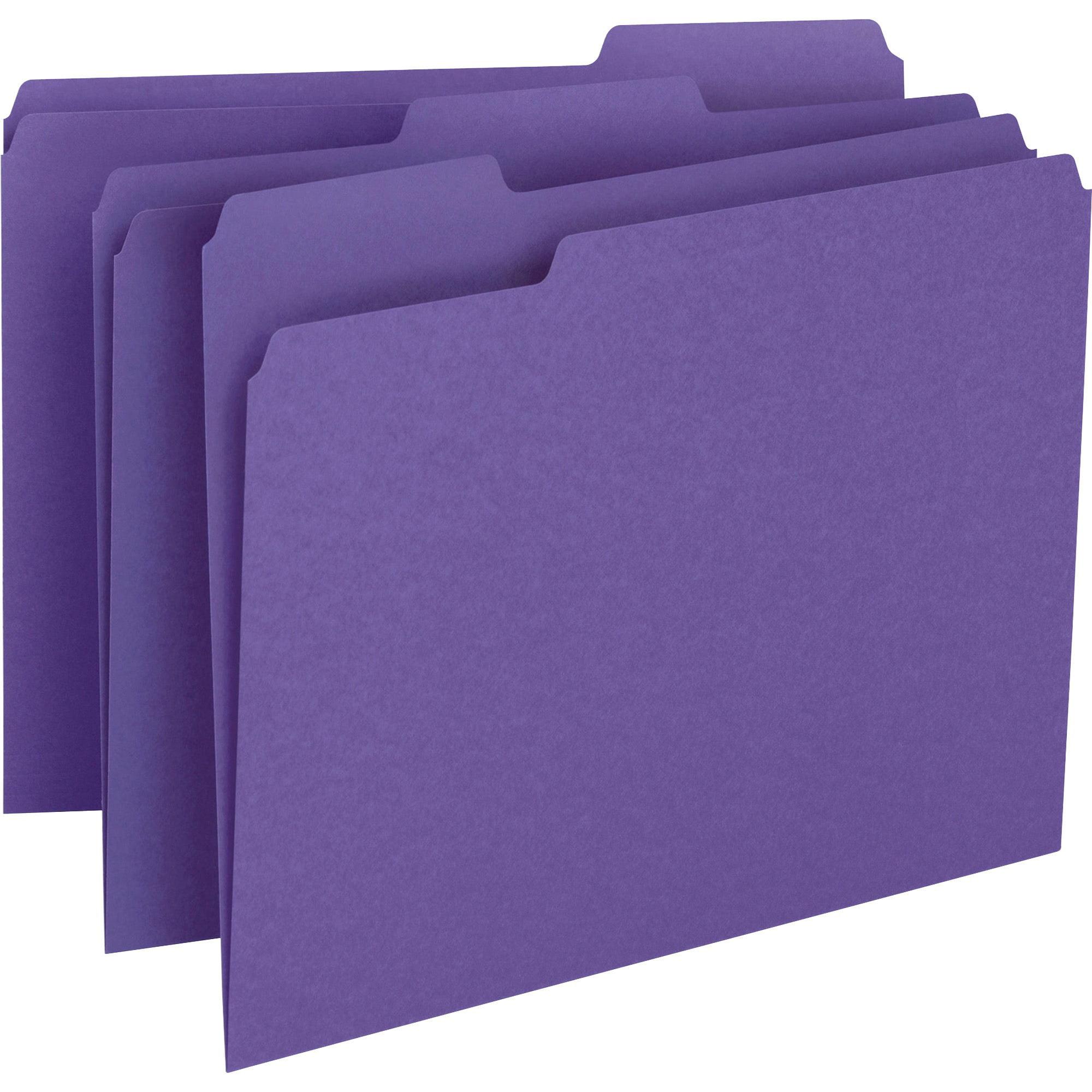 Smead File Folder, 1/3-Cut Tab, Letter Size, Purple, 100 per Box (13043)