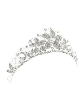 Women Wedding Bridal Party Rhinestone Imitation Pearls Decor Headband Headdress