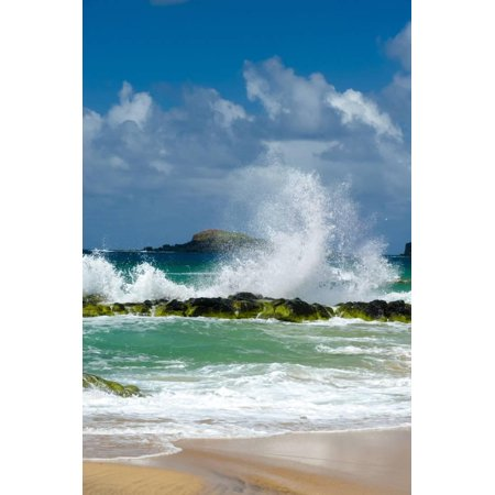 Waves Breaking on the Rocks at Kauapea Beach, Kauai, Hawaii, USA Print Wall Art By Richard (Best Beaches In Kauai)