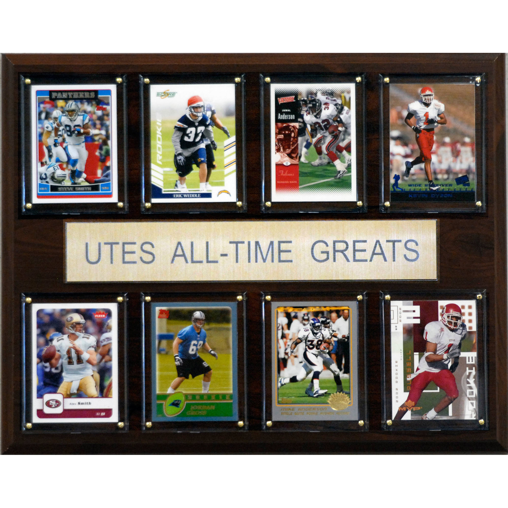 C&I Collectables NCAA Football 12x15 Utah Utes All-Time Greats Plaque