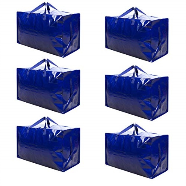 College Carrying VENO Thick Over-Sized Organizer Storage Bag with Strong Handles and Zippers for Travelling Moving 8 Packs Camping Christmas Decorations Storage Made of Recycled Material