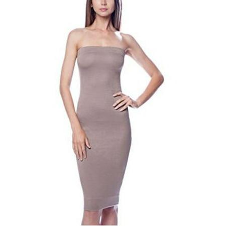 DNA Couture Womens Basic Strapless Bodycon Mini Tube Dress ()