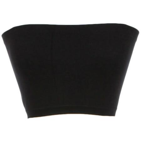 Hot Bandeau (Mb Trend Junior Size Solid Seamless Spandex Bandeau, Black, One)