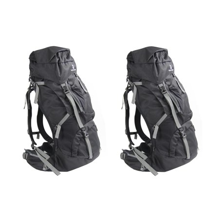 Tahoe Gear Fairbanks 75L Premium Internal Frame Hiking Backpack - Black (2 - 75l Internal Frame Pack