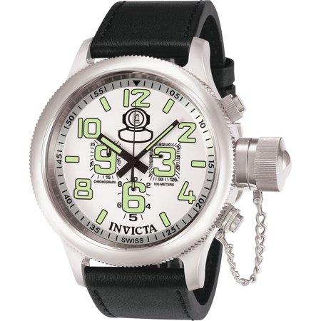 Invicta Men's 7001 Russian Diver Quartz Chronograph White Dial Watch