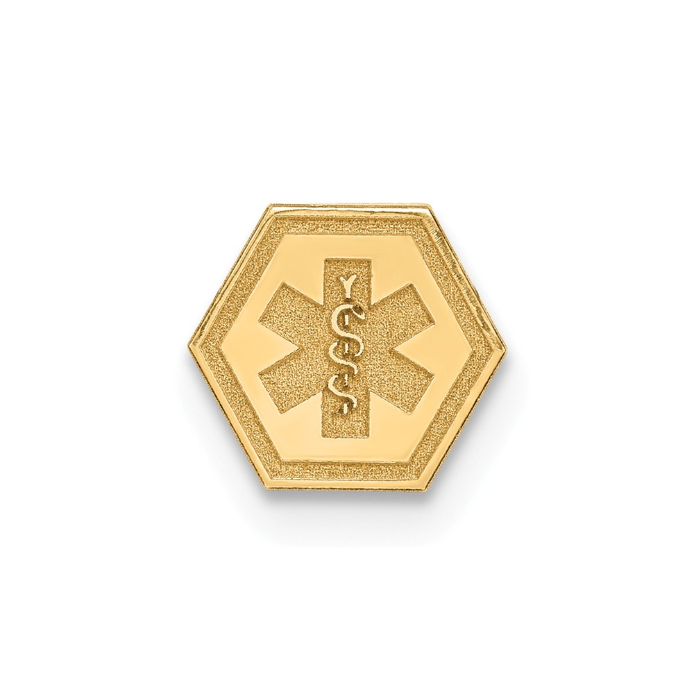 14k Yellow Gold Non-enameled Attachable Medical Emblem Charm (6mm)