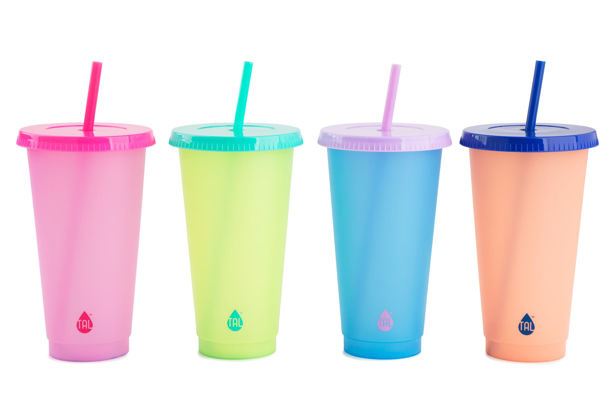 Tal 4 Pack 24 oz Solid Color Changing Tumblers