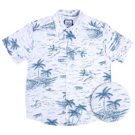 db2bda8f3 Blue Gear - Boys Hawaiian Shirt | Short Sleeve Button Up Printed ...