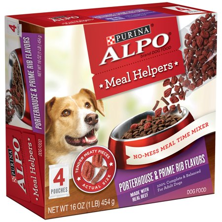 (Purina ALPO Meal Helpers Porterhouse & Prime Rib Flavors Dog Food 16 oz. Box)