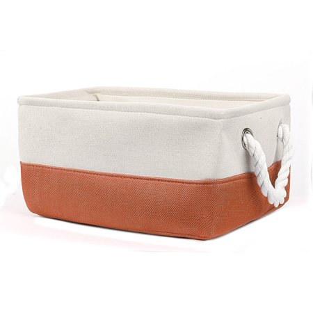 Baskets With Handles (Canvas Fabric Storage Bins Basket Toys Organizer with Dual)