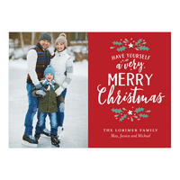 Personalized Holiday Photo Card - Very Merry