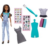 Barbie DIY Emoji Style Nikki Doll - 40 Designer Decals