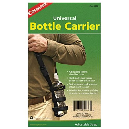 Coghlan's Water Bottle Carrier, Hook and loop straps adapt to a variety of water and vacuum bottle sizes By Coghlans