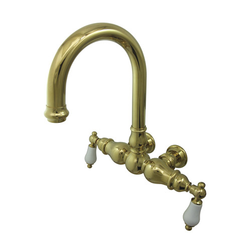 Kingston Brass  CC3005T  Clawfoot Tub Filler  Vintage  Faucet  Double Handle  ;Polished Brass