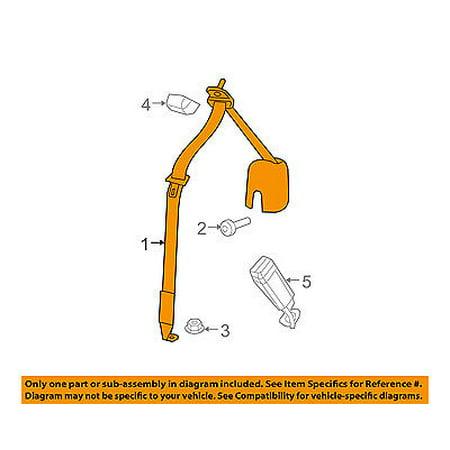 Rear Seat Belt - Jeep CHRYSLER OEM 07-10 Wrangler Rear Seat Belts-Outer Belt 5KP121DVAD