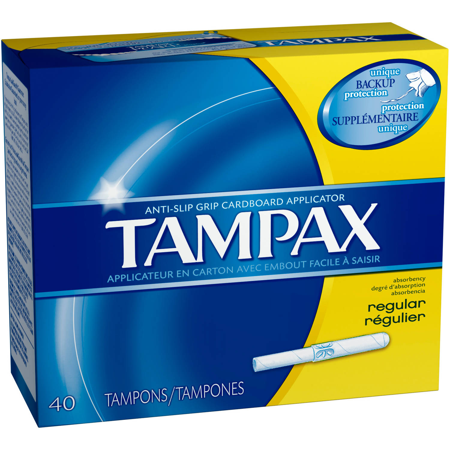 Tampax Cardboard Applicator Regular Absorbency Tampons, (Choose your Count)