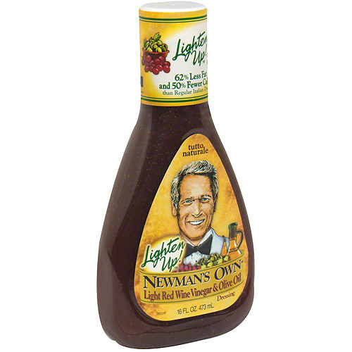 Newman's Own Lighten Up Light Red Wine Vinegar & Olive Oil Vinaigrette, 16 oz (Pack of 6)