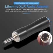 3.5 Female to XLR Female Adapter with Zinc Alloy Assembly Housing for Mixers Power Amplifiers Microphones
