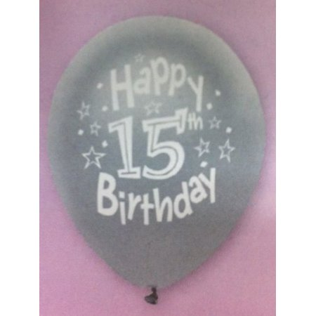 Happy 15th Birthday Balloons (8 Count) - assorted colors