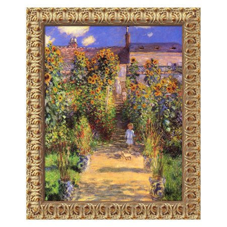 The Artist's Garden at Vetheuil, 1880 Canvas Wall Art by Claude Monet - 20W x 24H in.