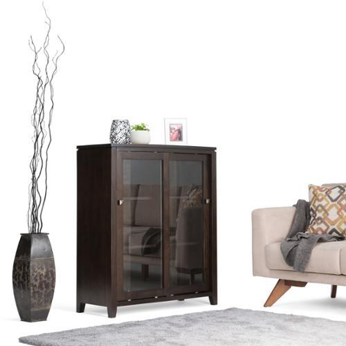 WyndenHall  Essex Coffee Brown Medium Storage Media Cabinet & Buffet