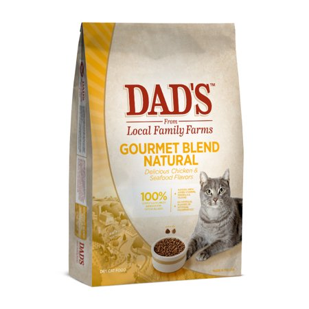 DAD'S Gourmet Blend Natural Dry Cat Food, 3.6 lbs