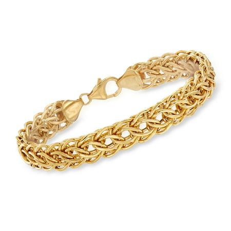 Ross-Simons Italian 14kt Yellow Gold Cestina Link Bracelet