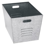 Edsal Galvanized Steel Utility Bin - Set of 6