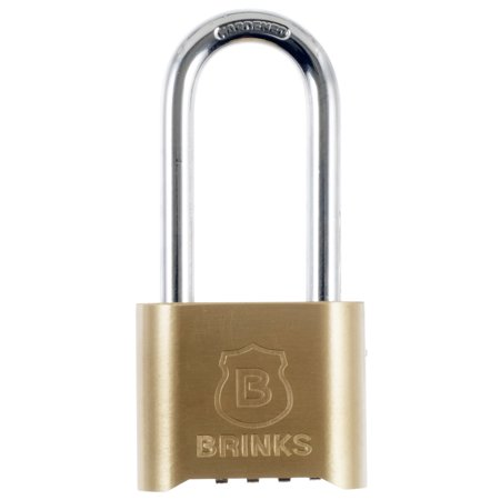 - Brink's 50mm Long Shackle Bottom Resettable Dial Padlock