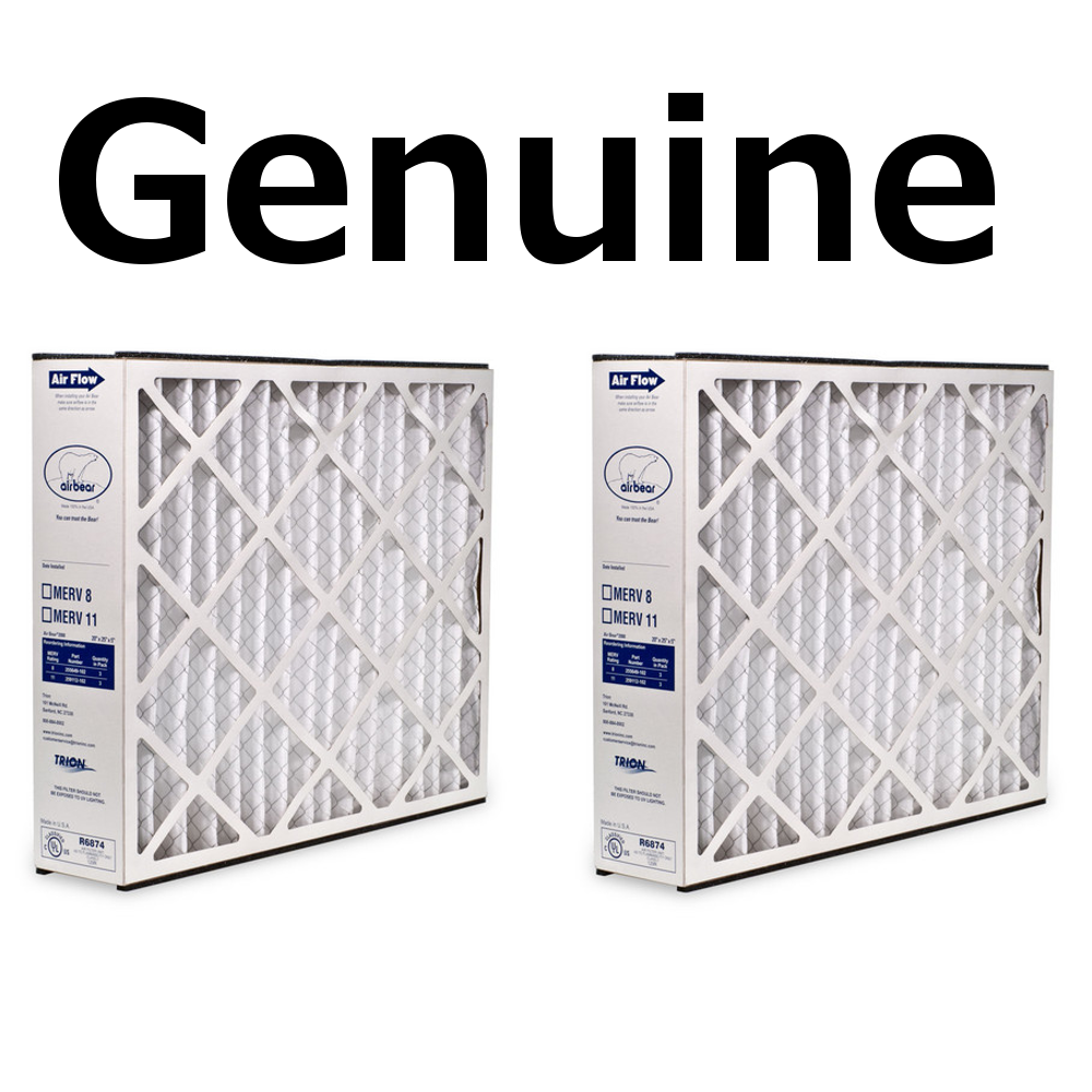 2 Air Bear Trion 20x25x5 Genuine Filters