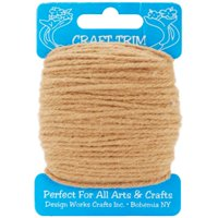 Design Works Craft Yarn 20yd-Light Brown