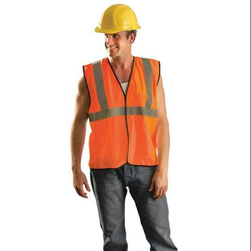 OCCUNOMIX ECO-GC-O2/3X High Visibility Vest, 2X/3XL, Orange