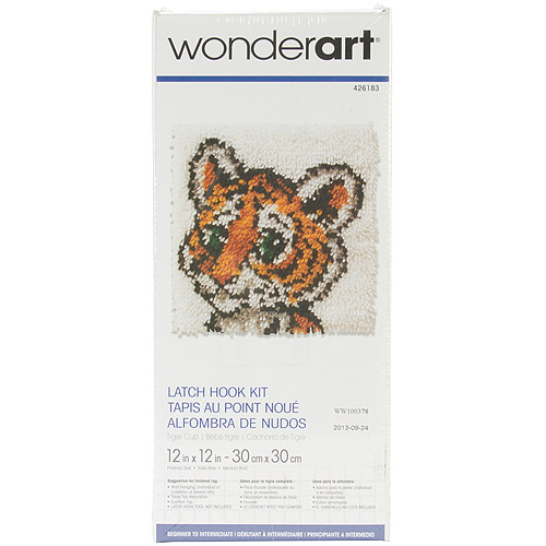 "Wonderart Latch Hook Kit, 12"" x 12"""
