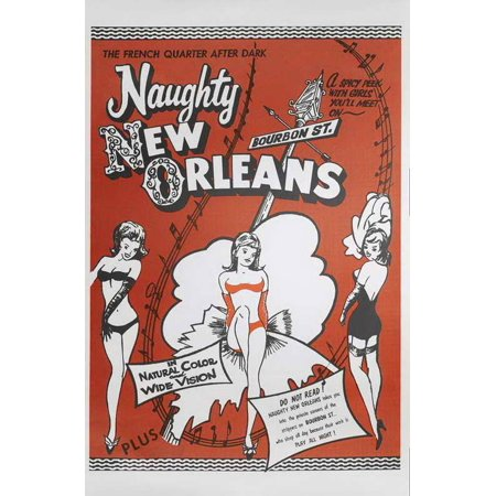 Naughty New Orleans POSTER Movie B Mini Promo (Nueva Orleans Halloween)