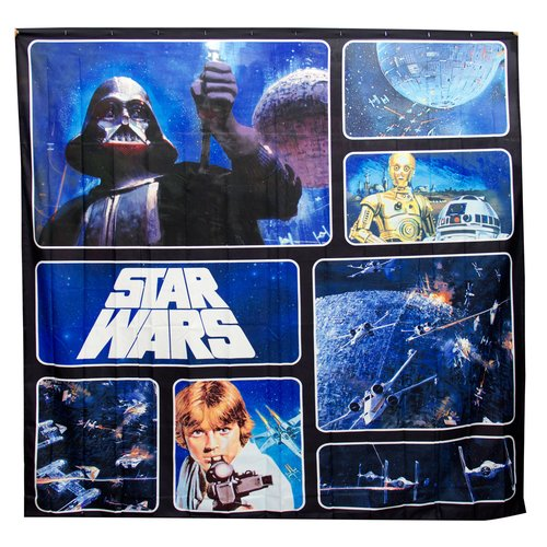 Star Wars Fabric Shower Curtain by Jay Franco
