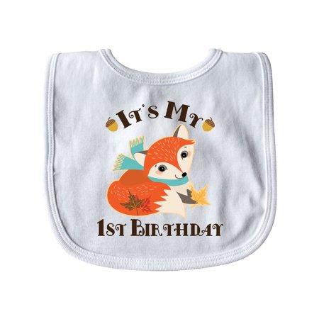 1st Birthday Woodland Fox Baby Bib for $<!---->