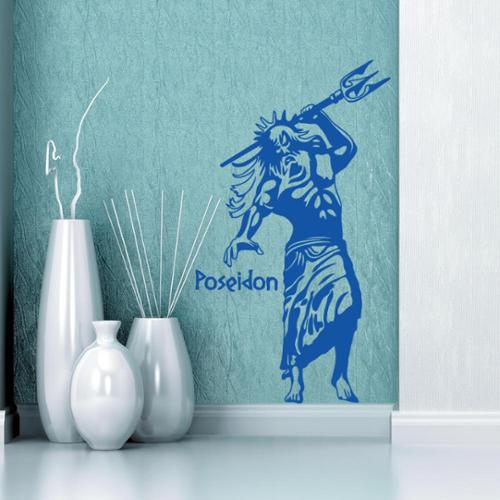 Style and Apply Poseidon Vinyl Wall Art Decal